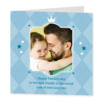 Father's Day Checked Design - Luxury Greeting Card