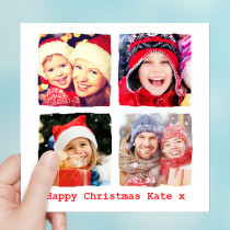 Personalised Christmas Ripped Effect with four Photo Uploads - Luxury Greeting Card