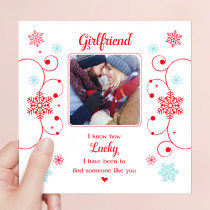 Personalised Sentiments Christmas Girlfriend with Photo Upload - Luxury Greeting Card
