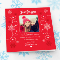 Personalised Sentiments Just For You Christmas with Photo Upload - Luxury Greeting Card