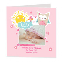 Cute Girl Sunshine - Luxury Greeting Card Photo Upload