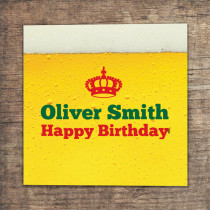 Personalised Beer Spoof - Luxury Fabric Card