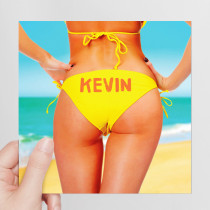 Personalised Sexy Woman Bikini - Luxury Fabric Card