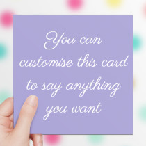 Personalised Card - Text Only Luxury Fabric Card