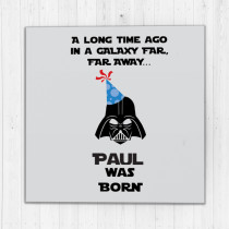 Personalised Galaxy Far Away - Luxury Fabric Card