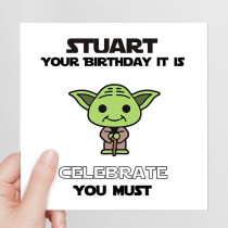 Personalised Celebrate You Must - Luxury Fabric Card