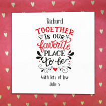 Favourite Place To Be Non Photo - Luxury Greeting Card