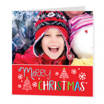 Christmas Tree Text With Photo Upload  - Luxury Greeting Card