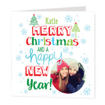 Christmas And Happy New Year With Photo Upload  - Luxury Greeting Card