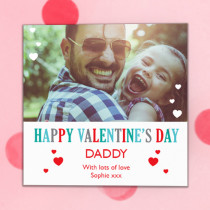 Personalised Valentine's Day Photo Card - Luxury Fabric Card