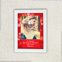 Personalised Hearts Photo Frame