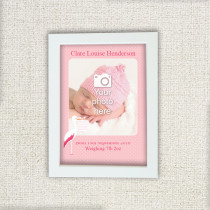 New Baby Girl - Personalised Photo Frame