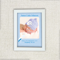 Baby Boy Stork - Photo Frame