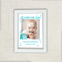 Itsy Bitsy Christening Day Boy - Photo Frame