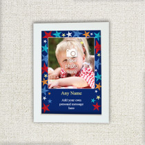 Personalised Grunge Star Photo Frame