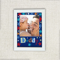Personalised Grunge Star Daddy - Photo Frame