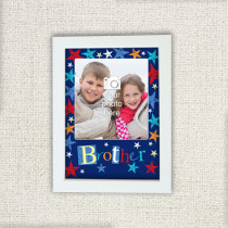 Personalised Grunge Star Brother - Photo Frame
