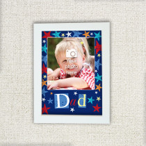 Personalised Grunge Star Dad Photo Frame