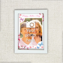 Floral Butterfly Design - Photo Frame