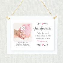 Sentimental Baby Girl to Grandparents - Personalised Photo Frame