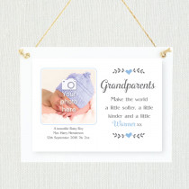 Sentimental Baby Boy to Grandparents - Personalised Photo Frame