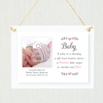 Sentimental Baby Girl - Personalised Photo Frame