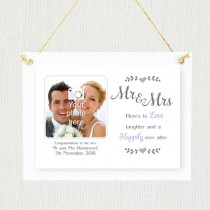 Personalised Sentimental Mr and Mrs Photo Frame