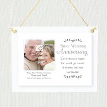 Personalised Sentimental Silver Wedding Anniversary Photo Frame