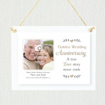 Sentimental Golden Wedding Anniversary - Personalised Photo Frame