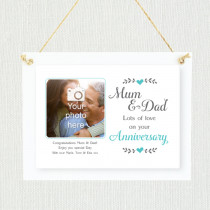 Personalised Sentimental Mum And Dad Wedding Anniversary Photo Frame