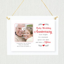 Sentimental Ruby Wedding Anniversary - Personalised Photo Frame