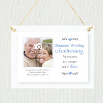 Sentimental Diamond Wedding Anniversary - Personalised Photo Frame
