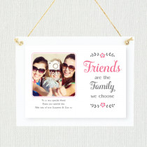 Sentimental Friends Are Family - Personalised Photo Frame