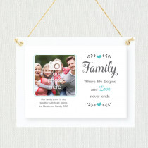 Sentimental Family Love Never Ends - Personalised Photo Frame
