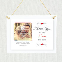 Personalised Sentimental Love You To The Moon Photo Frame