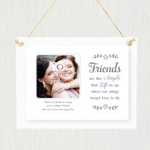Sentimental Friends Are Like Angels - Personalised Photo Frame