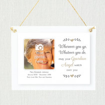 Sentimental Guardian Angel - Personalised Photo Frame