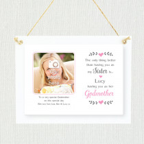 Sentimental Sister Godmother - Personalised Photo Frame