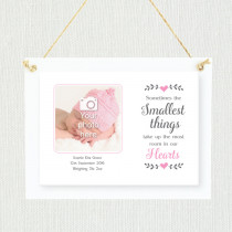 Sentimental Baby Girl Smallest things - Personalised Photo Frame