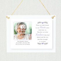 Sentimental Hold Closest To Our Hearts - Personalised Photo Frame