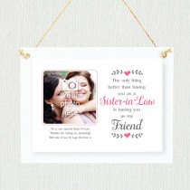 Personalised Sentimental Sister-in-Law Photo Frame