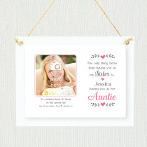 Personalised Sentimental Sister Auntie Photo Frame