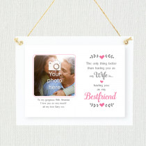 Sentimental Wife And Bestfriend - Personalised Photo Frame