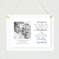 Personalised Sentimental Husband Daddy Photo Frame