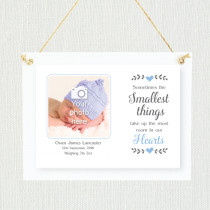 Sentimental Baby Boy Smallest things - Personalised Photo Frame
