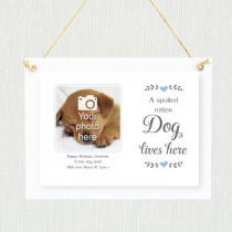 Sentimental Spoilt Dog Lives Here - Personalised Photo Frame