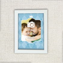 Father's Day Checked Design - Personalised Photo Frame