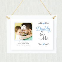 Personalised Sentimental Daddy And Me Photo Frame