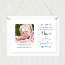 Personalised Sentimental Mum Grandma Blue Photo Frame