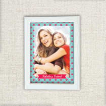 Personalised Little Red Flowers Pattern Photo Frame